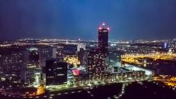 UNO City bei Nacht
